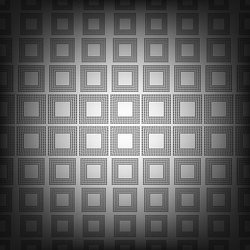 Naadloos patroon Het rechthoekige halftone rooster, vat geometrisch ontwerp samen als achtergrond stock illustratie