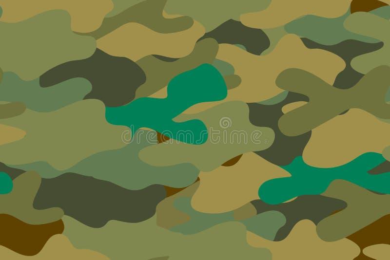 Naadloos patroon Leger van de textuur het eenvormige militaire camouflage bos Vector royalty-vrije illustratie
