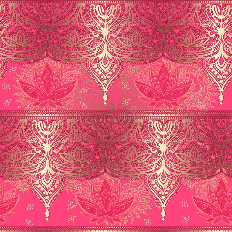 Naadloos Patroon Lotus royalty-vrije illustratie