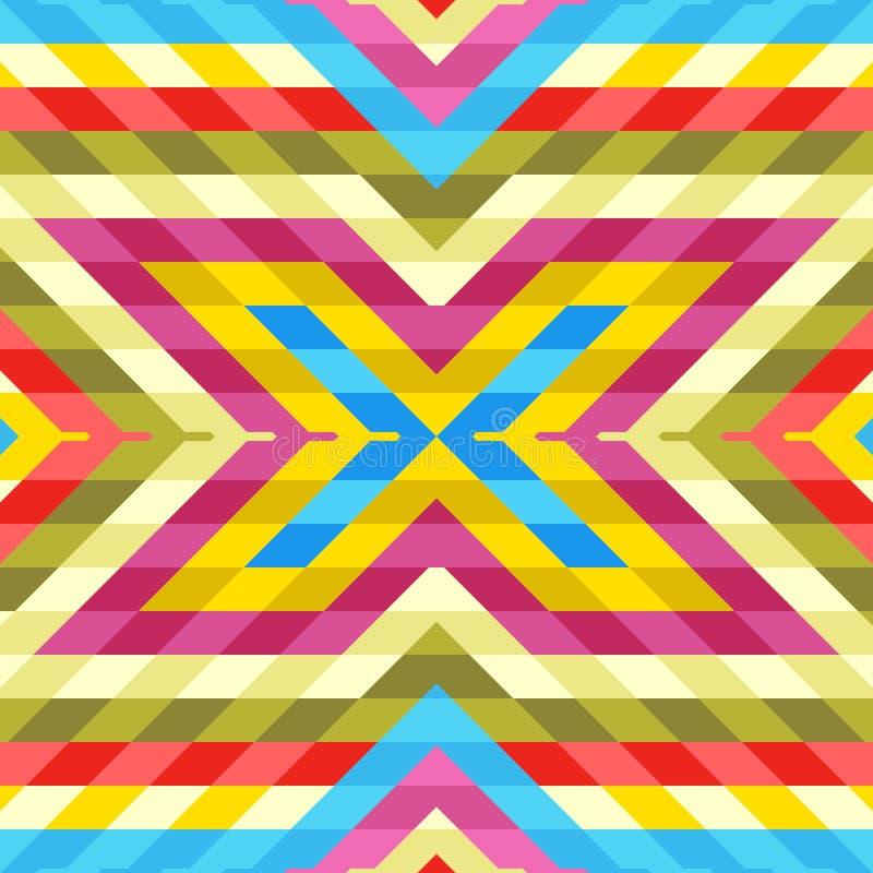 Naadloos Patroon: Mengeling van Kleurrijke Ruiten vector illustratie