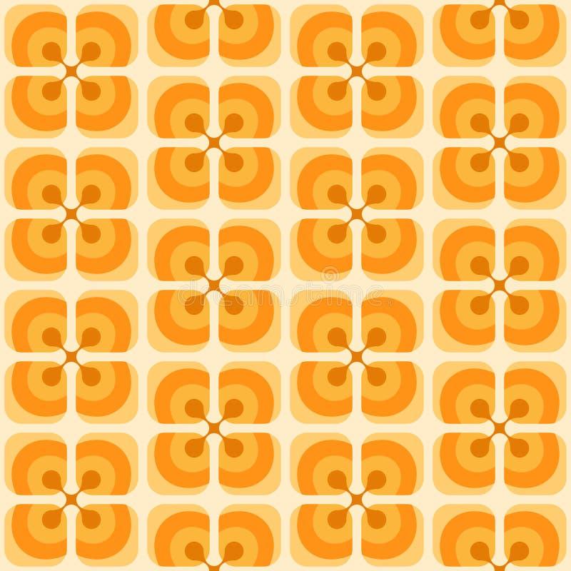 Naadloos patroon met abstracte bloemenelementen en kleurengradiënt stock illustratie