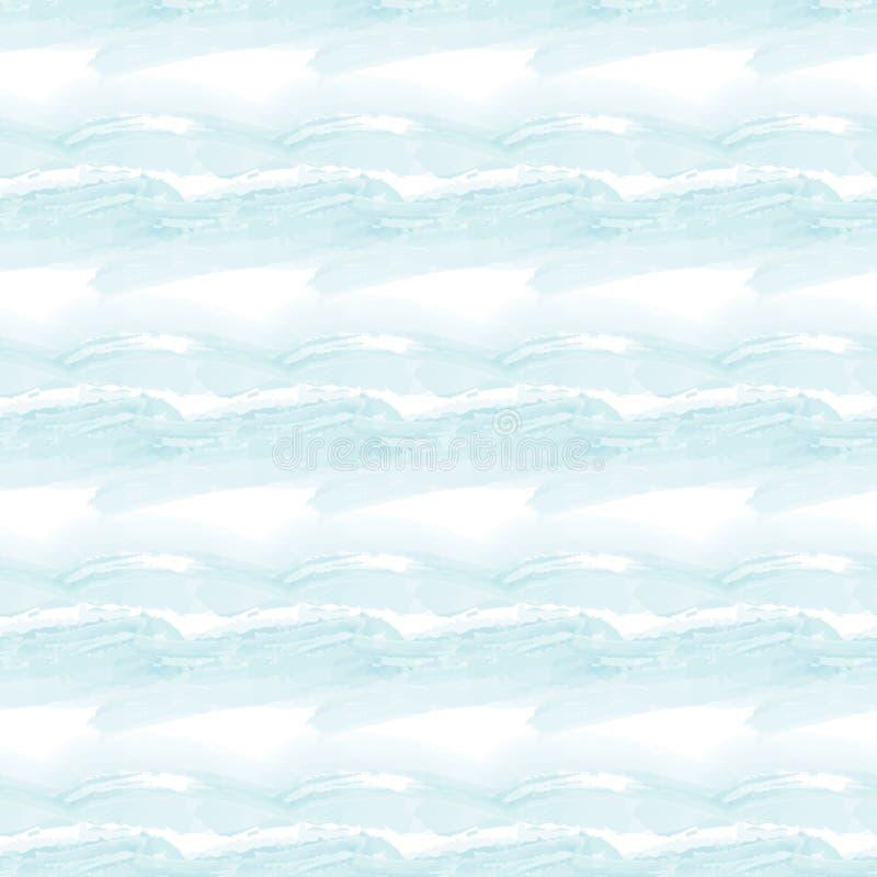 Naadloos patroon met achtergrond van de waterverf de leuke abstracte hemel Digitaal document voor jonge geitjes en babyambachten vector illustratie