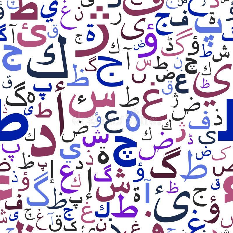Naadloos patroon met Arabisch manuscript stock illustratie