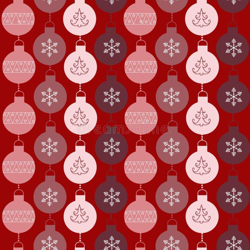 Naadloos patroon met ballen stock illustratie