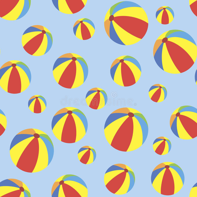 Naadloos patroon met ballen royalty-vrije stock foto