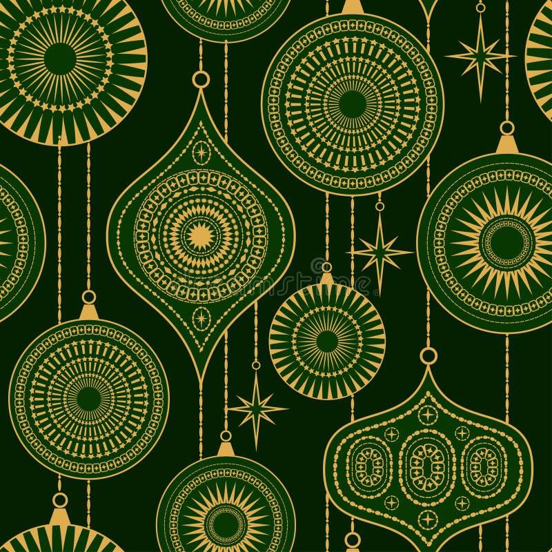 Naadloos patroon met ballen en sterren stock illustratie