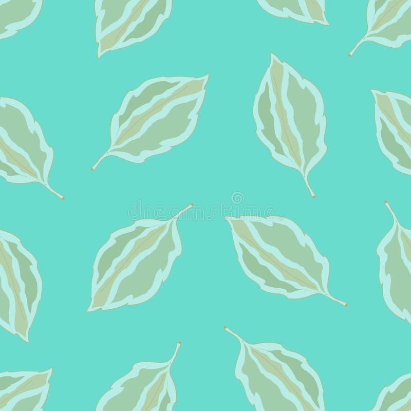 Naadloos patroon met bladeren, de herfst kleurrijke achtergrond stock illustratie