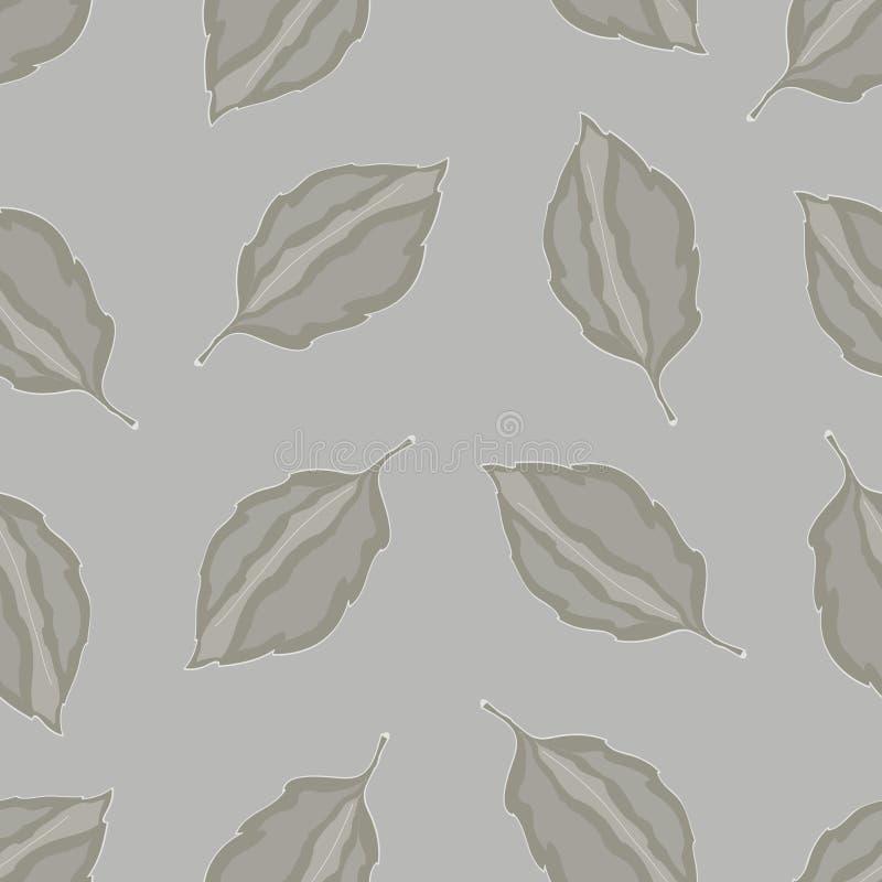 Naadloos patroon met bladeren, de herfst kleurrijke achtergrond vector illustratie