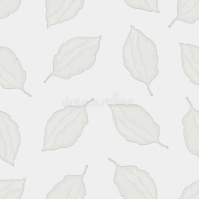 Naadloos patroon met bladeren, de herfst kleurrijke achtergrond royalty-vrije illustratie