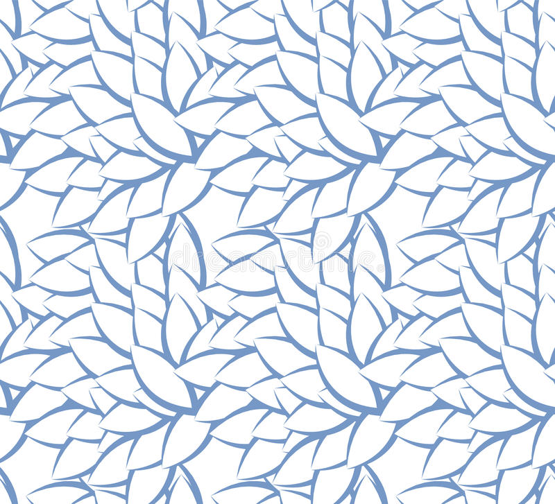 Naadloos patroon met bladerensilhouetten over witte achtergrond vector illustratie