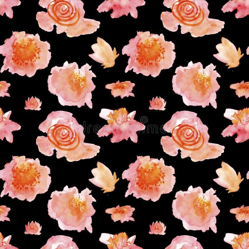 Naadloos patroon met bloemen stock illustratie