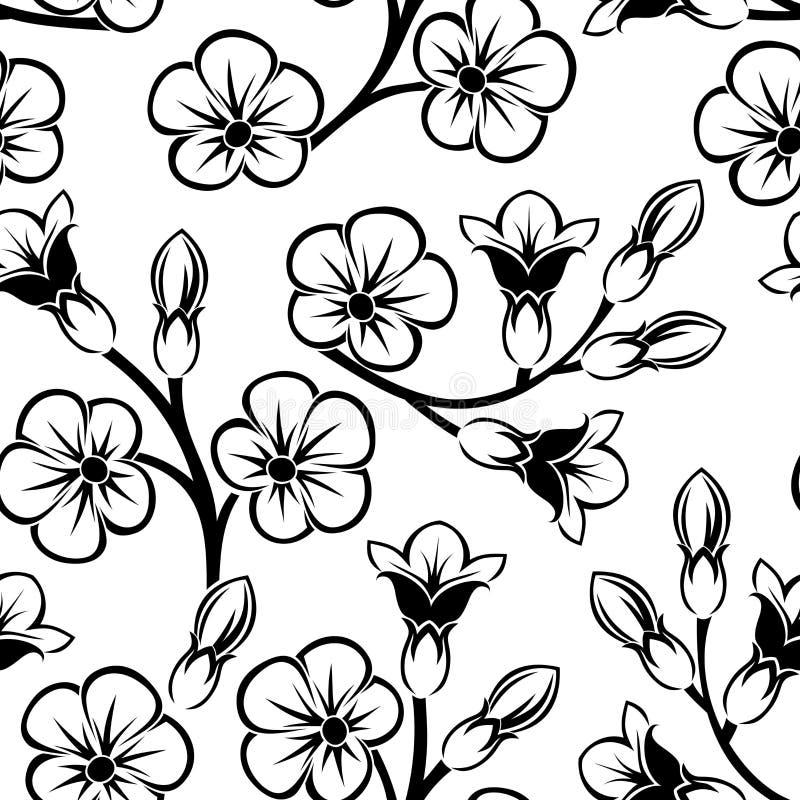 Naadloos patroon met bloemen. vector illustratie