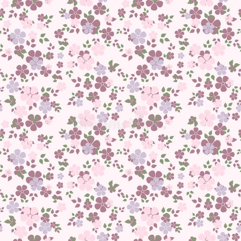Naadloos patroon met bloemen. stock illustratie