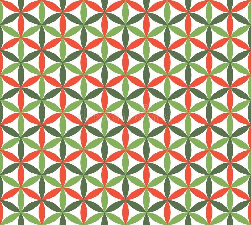 Naadloos patroon met bloemen en bladeren vector illustratie