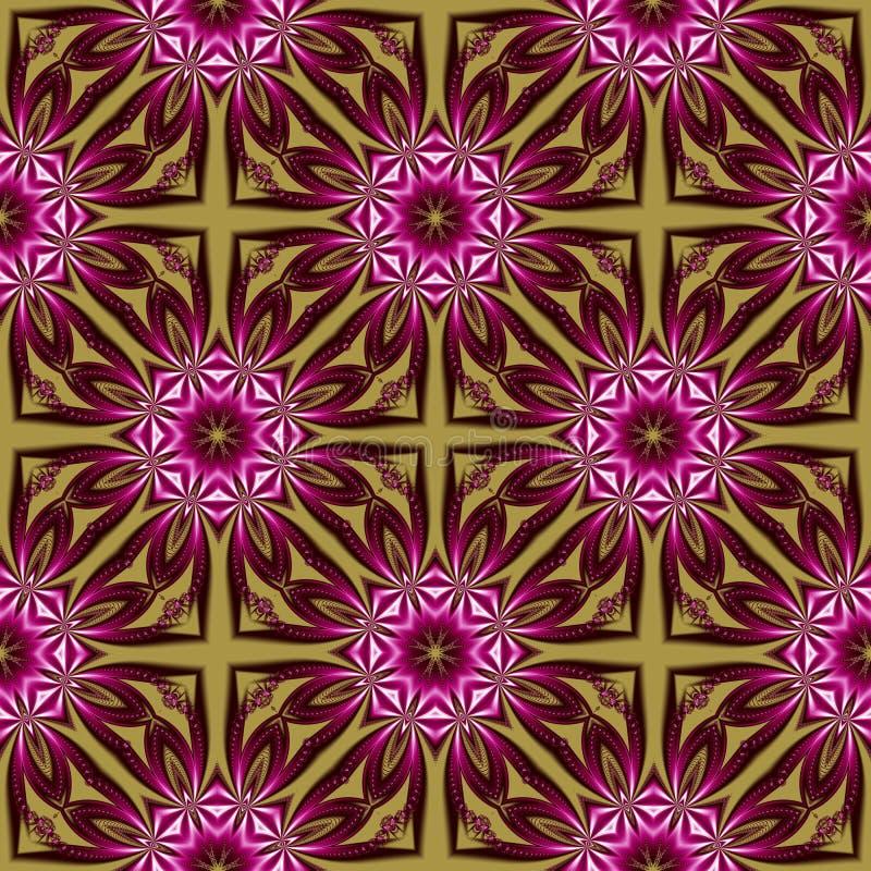 Naadloos patroon met bloemen en geocircle ornament U kunt het voor uitnodigingen, notitieboekjedekking, telefoongeval, prentbrief vector illustratie