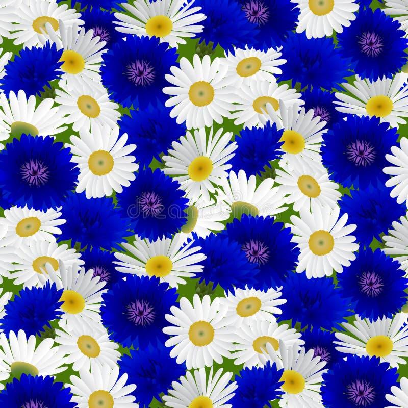 Naadloos patroon met bloemenkamille royalty-vrije illustratie