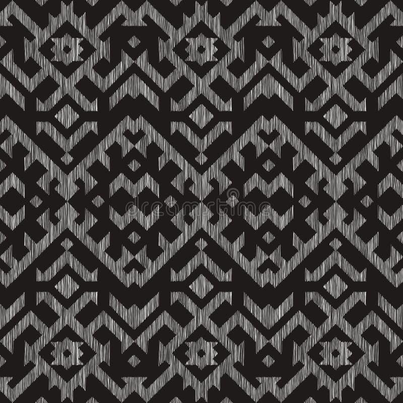 Naadloos patroon met borduurwerk E vector illustratie