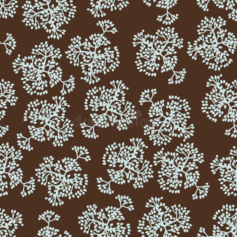 Naadloos patroon met brunches Het kan voor prestaties van het ontwerpwerk noodzakelijk zijn royalty-vrije illustratie