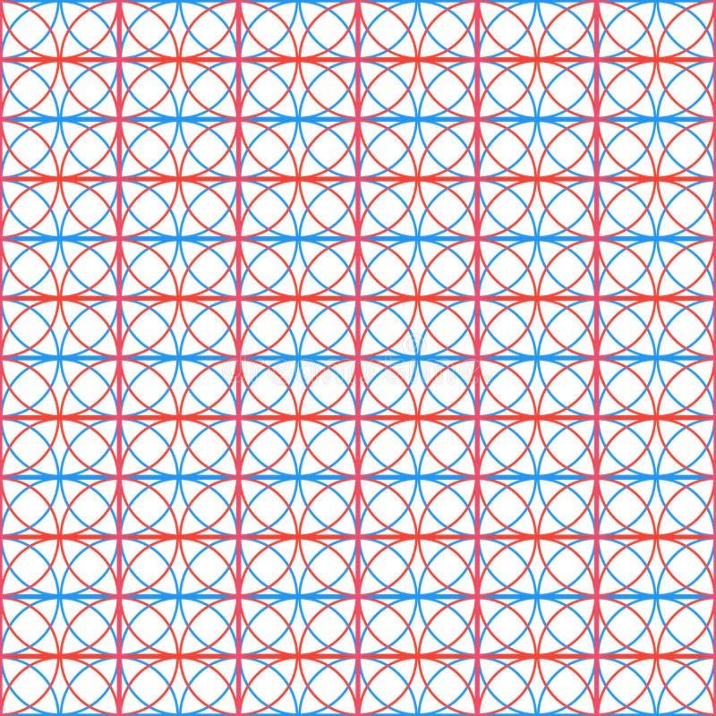 Naadloos patroon met cirkel abstracte achtergrond Vector illustratie stock illustratie