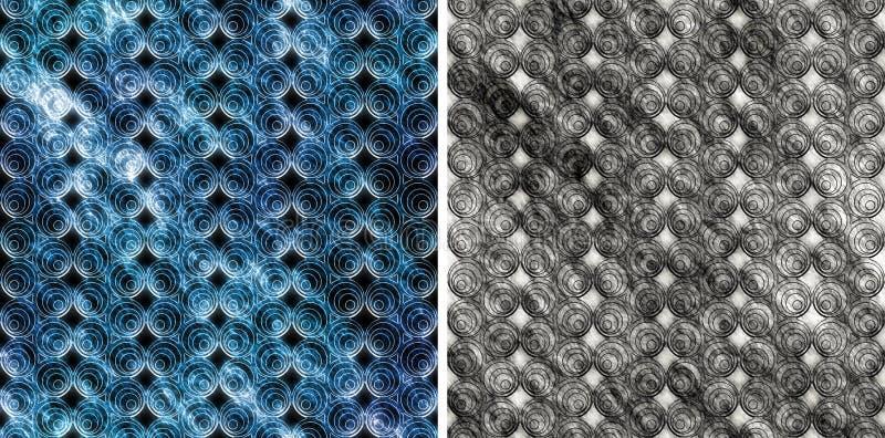 Naadloos patroon met cirkels royalty-vrije stock fotografie