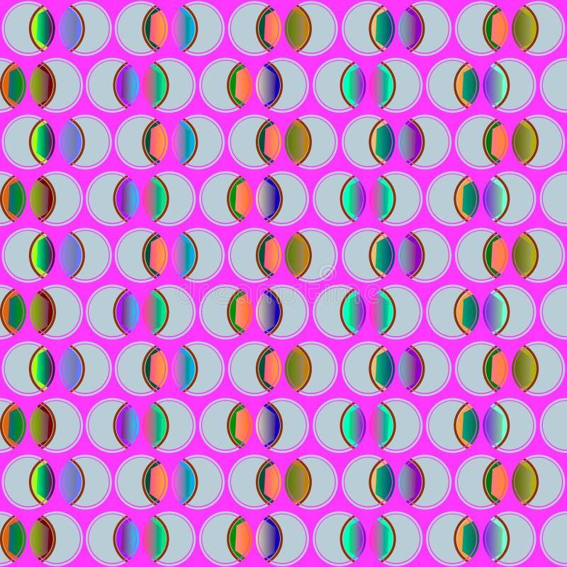 Naadloos patroon met cirkels in verschillende kleuren stock foto's
