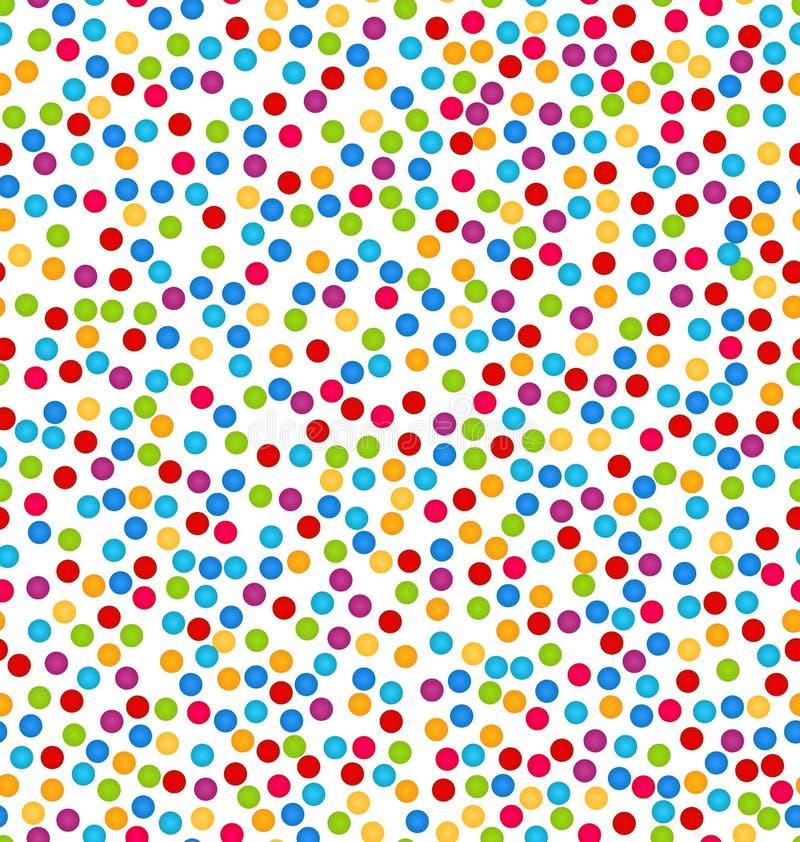 Naadloos Patroon met Confettien, Pret Kleurrijke Achtergrond stock illustratie