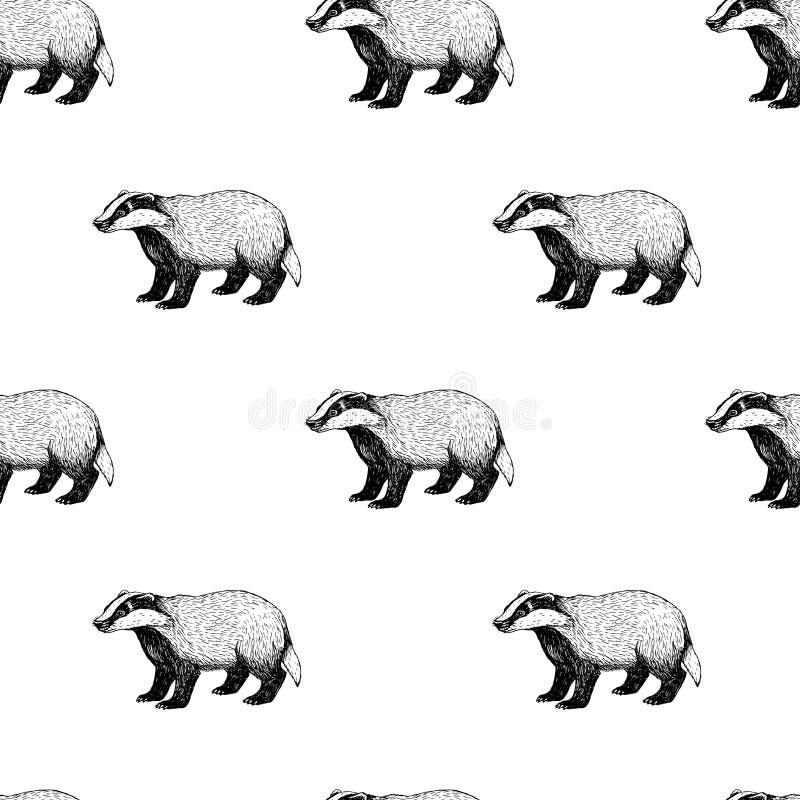 Naadloos patroon met das Achtergrond in uitstekende stijl stock illustratie