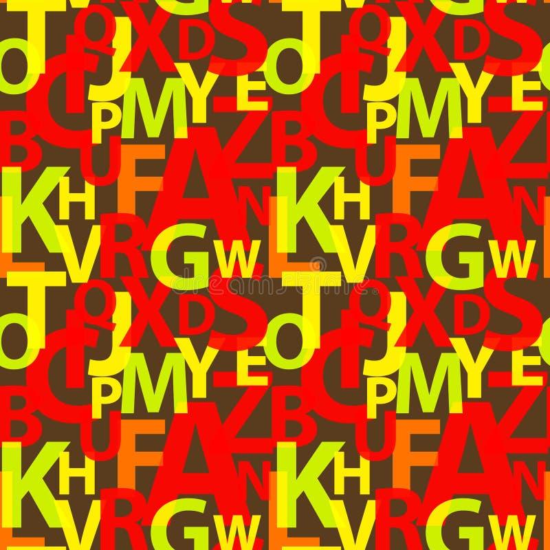 Naadloos patroon met de brieven royalty-vrije illustratie