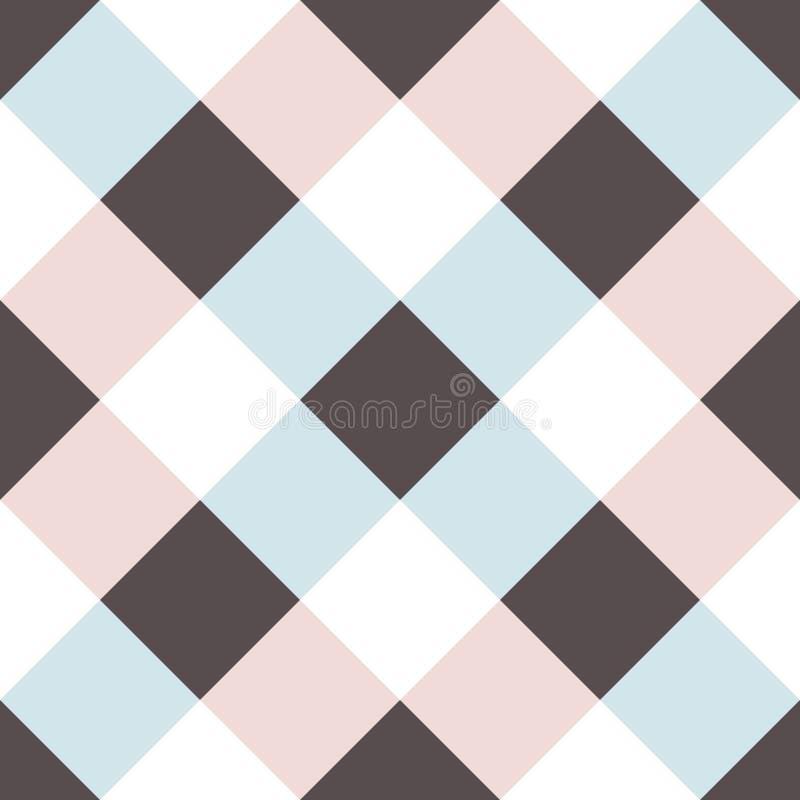 Naadloos patroon met de vormen van de kleurentegel stock illustratie