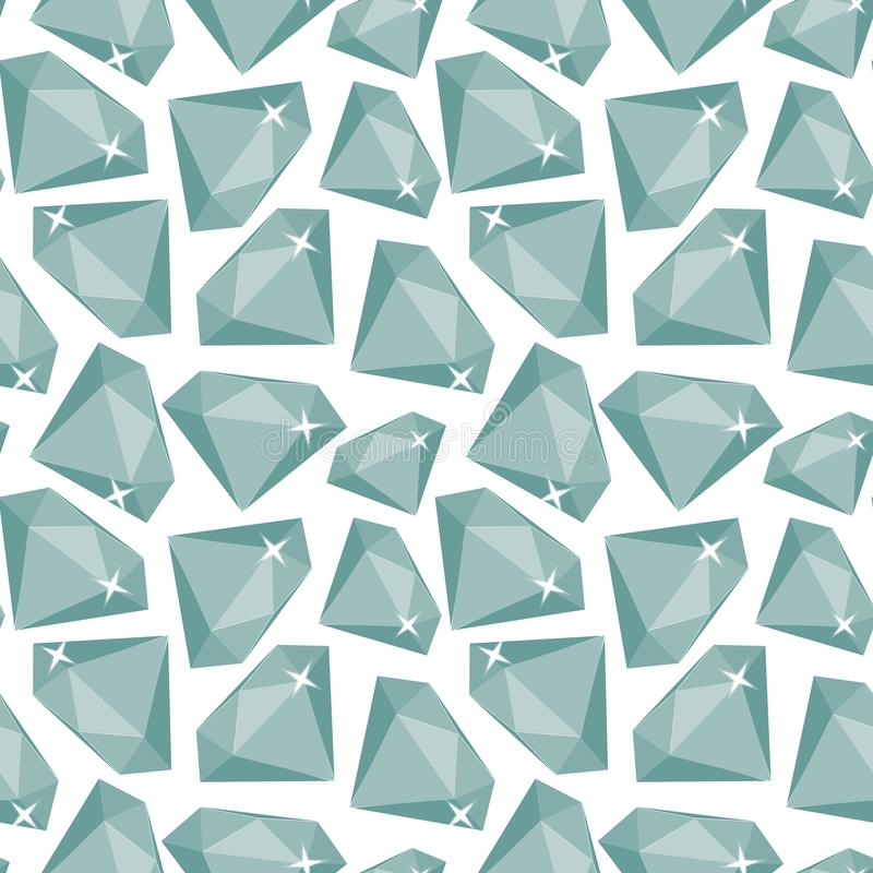 Naadloos patroon met diamanten vector illustratie