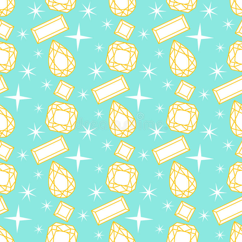 Naadloos patroon met diamanten royalty-vrije illustratie
