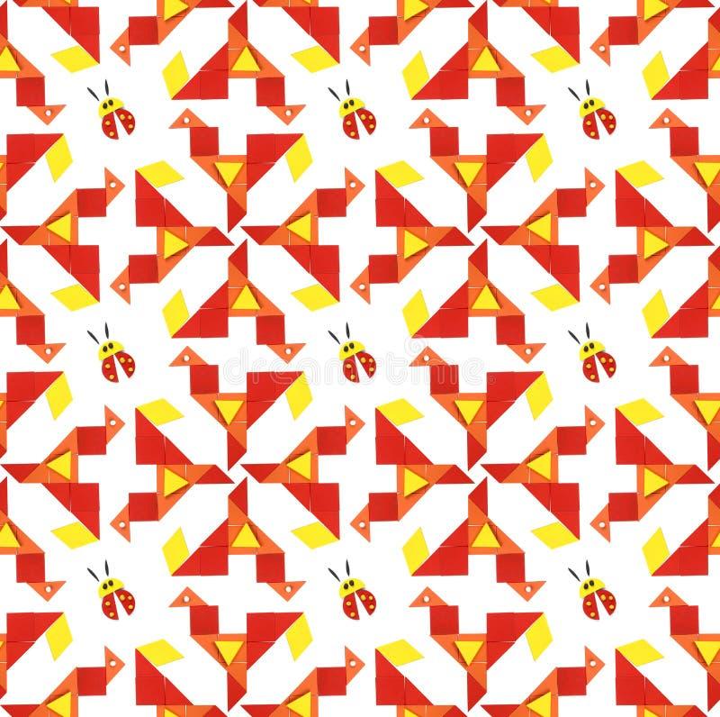 Naadloos patroon met dieren vector illustratie