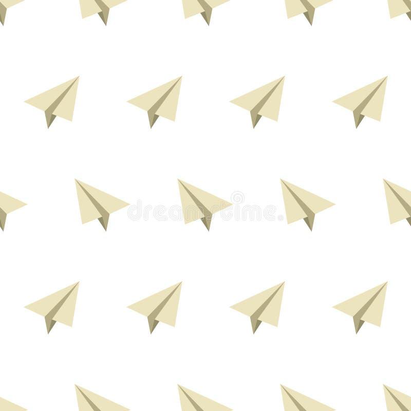Naadloos patroon met document vliegtuigen in vlakke stijl in kleuren Vectorillustratie vector illustratie