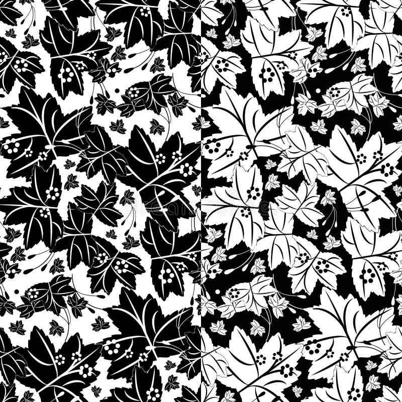 Naadloos patroon met esdoornbladeren royalty-vrije illustratie