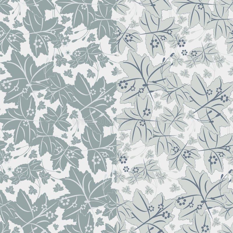 Naadloos patroon met esdoornbladeren vector illustratie
