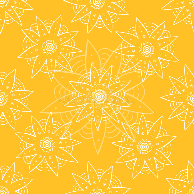 Naadloos patroon met etnische abstracte bloem stock illustratie