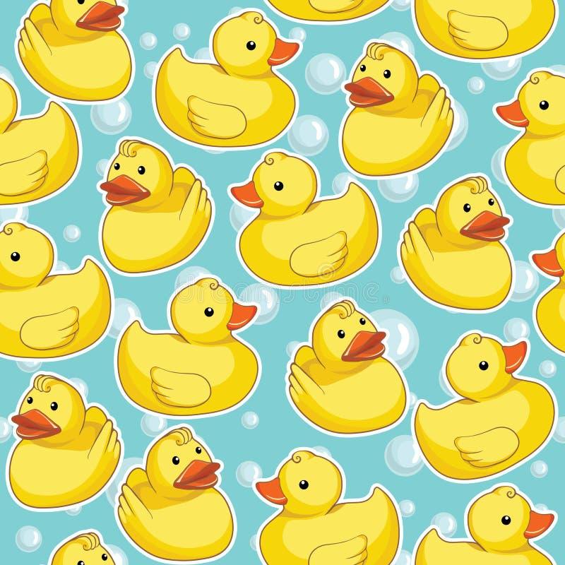 Naadloos patroon met gele eenden royalty-vrije illustratie