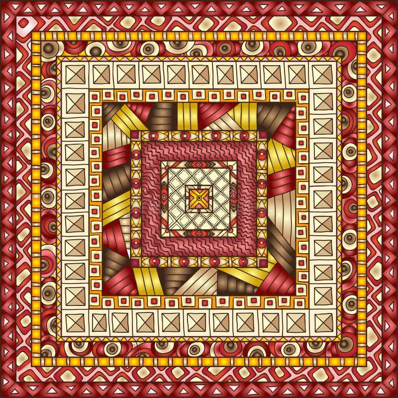 Naadloos patroon met geometrische elementen. royalty-vrije illustratie
