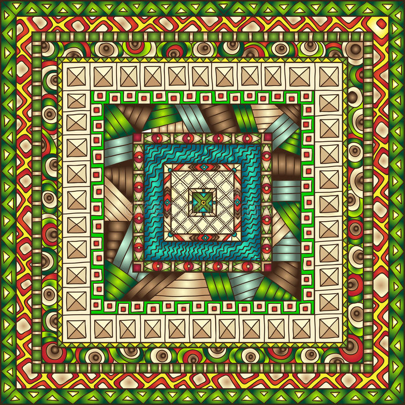 Download Naadloos Patroon Met Geometrische Elementen Stock Illustratie - Illustratie bestaande uit kant, indisch: 39102928