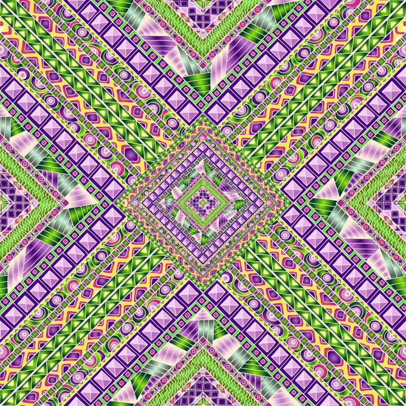 Naadloos patroon met geometrische elementen stock illustratie