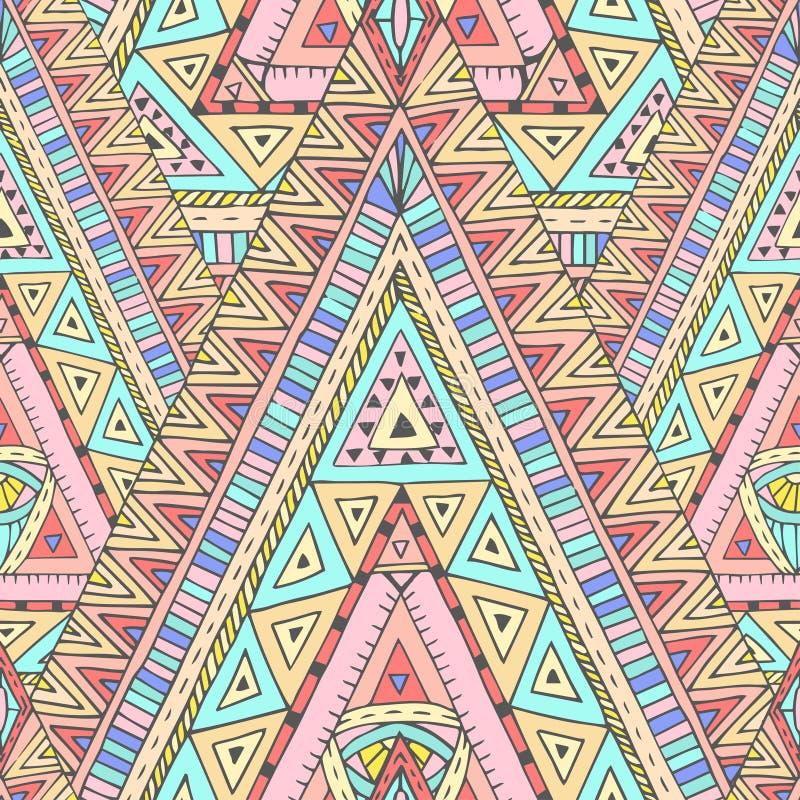 Naadloos patroon met geometrische elementen royalty-vrije illustratie