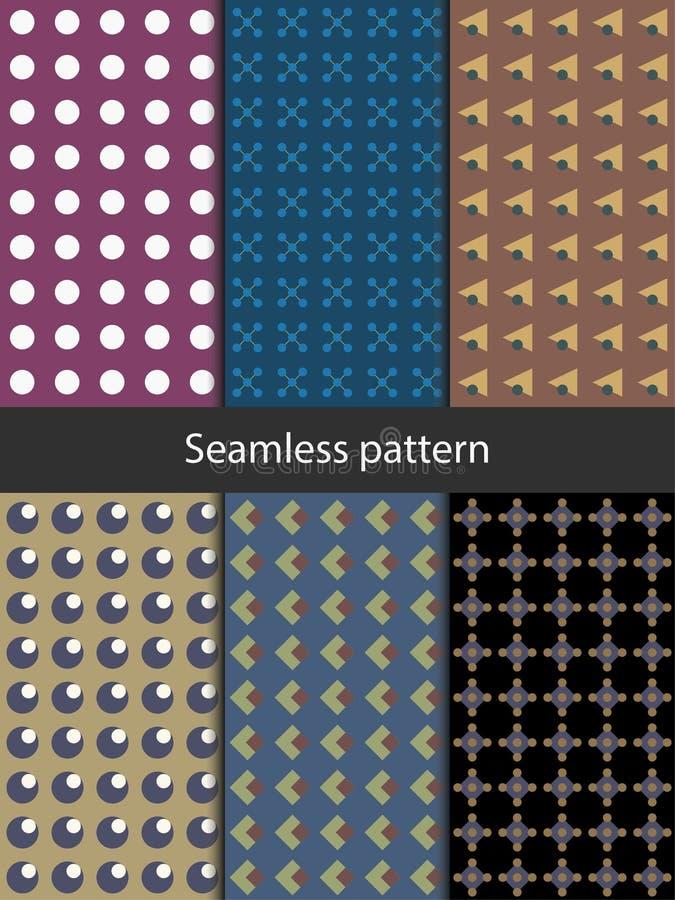 Naadloos patroon met geometrische vormen stock illustratie