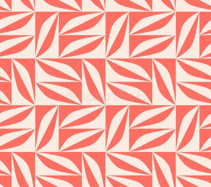 Naadloos patroon met geometrische vormen in retro Skandinavische stijl royalty-vrije illustratie