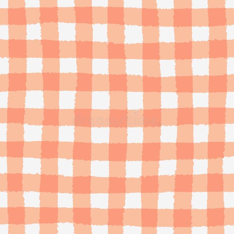Naadloos patroon met geruite geometrische textuur vector illustratie
