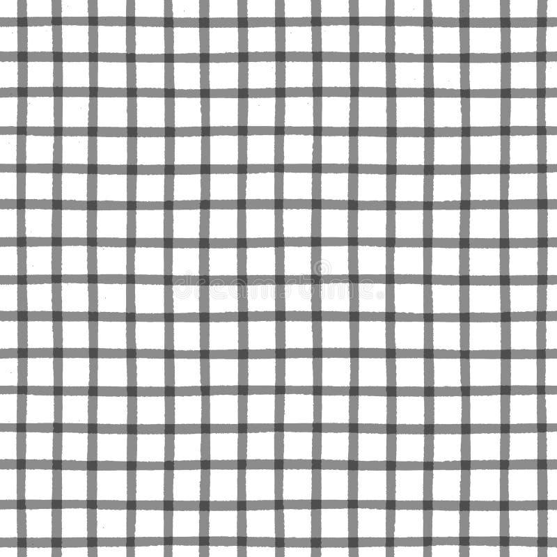 Naadloos patroon met geruite geometrische textuur stock illustratie