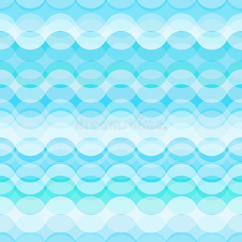 Naadloos patroon met gestileerde blauwe golven royalty-vrije illustratie