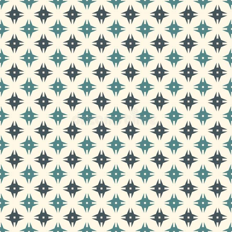 Naadloos patroon met gestileerde herhalingssterren Eenvoudig geometrisch ornament moderne modieuze textuur Plakboek digitaal docu royalty-vrije illustratie
