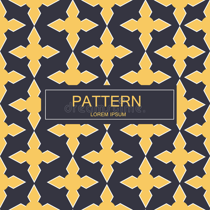 Naadloos patroon met gestippelde elementen Vector die textuur herhalen Modieuze zwart-wit achtergrond royalty-vrije stock afbeelding