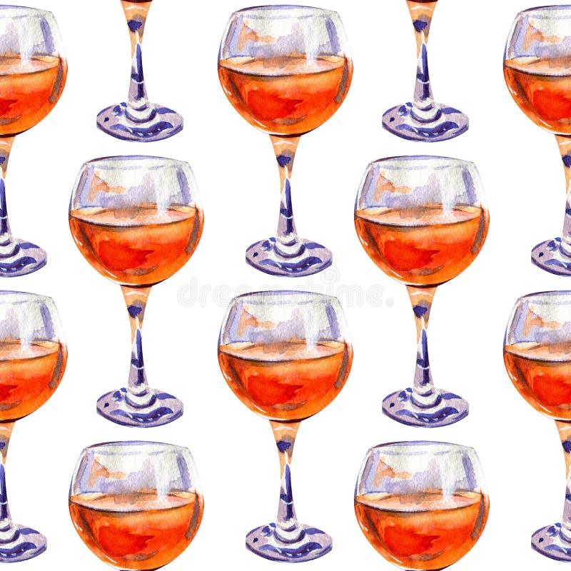 Naadloos patroon met glazen jus d'orange stock afbeelding