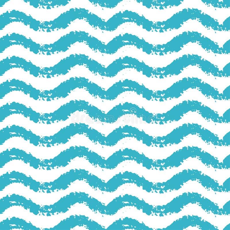 Naadloos patroon met golven voor het thema van de de zomertijd royalty-vrije illustratie
